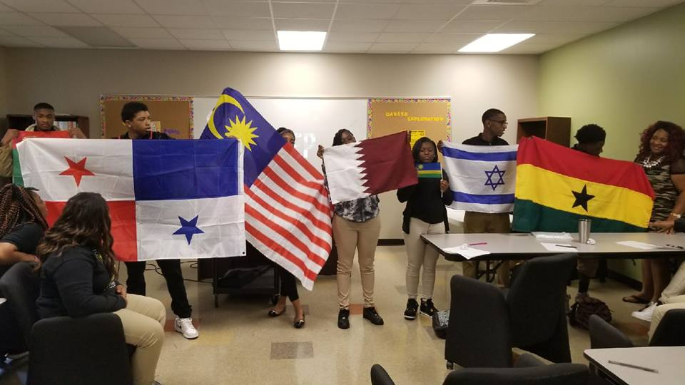 OSI-students-world-flags-one-step-initiative-2017